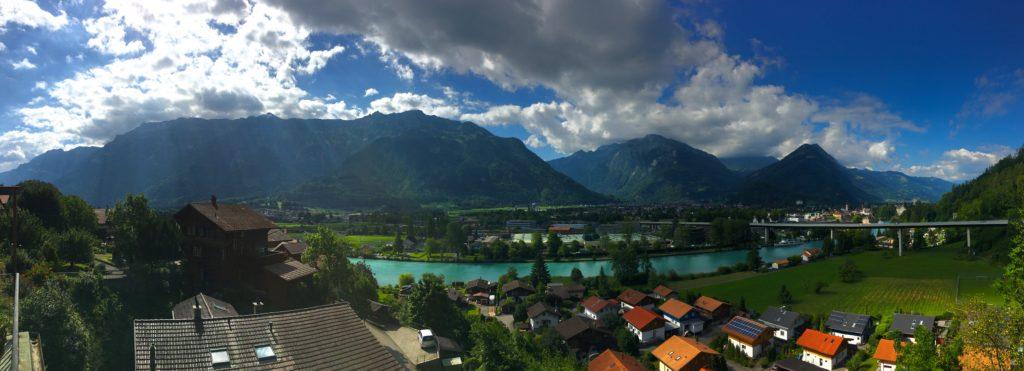 Lake views from Gasthof Schoenegg in Interlaken Switzerland