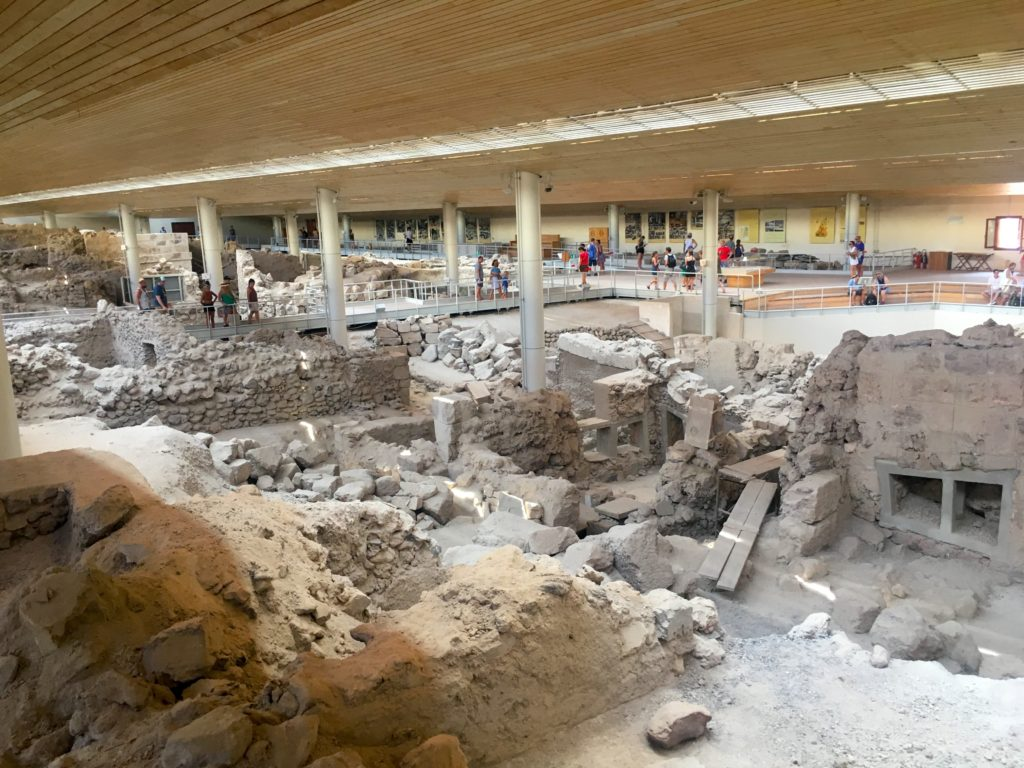 Excavations in the prehistoric Town of Akrotiri