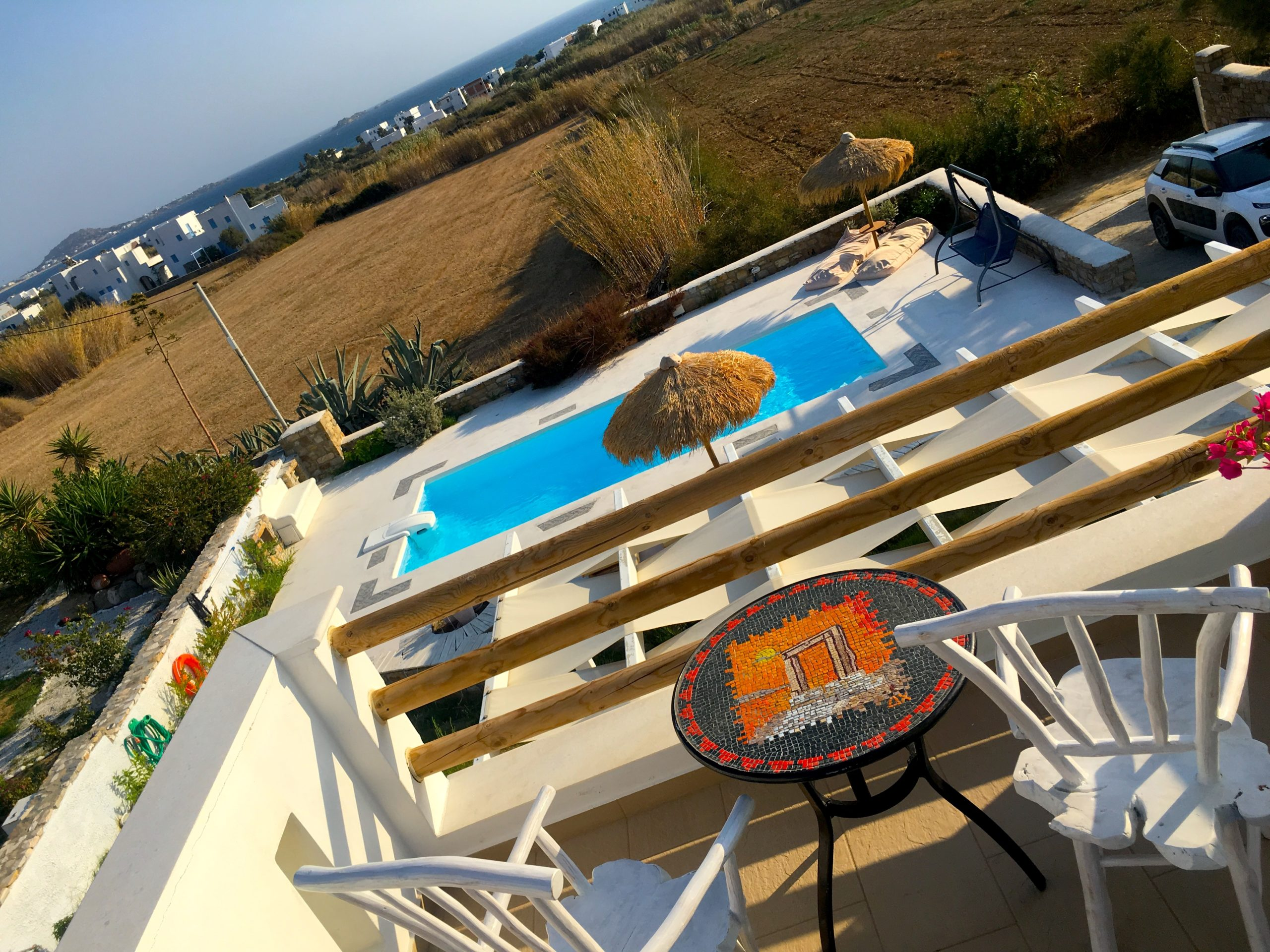 AirBnb home with pool on Plaka Beach in Naxos Greece