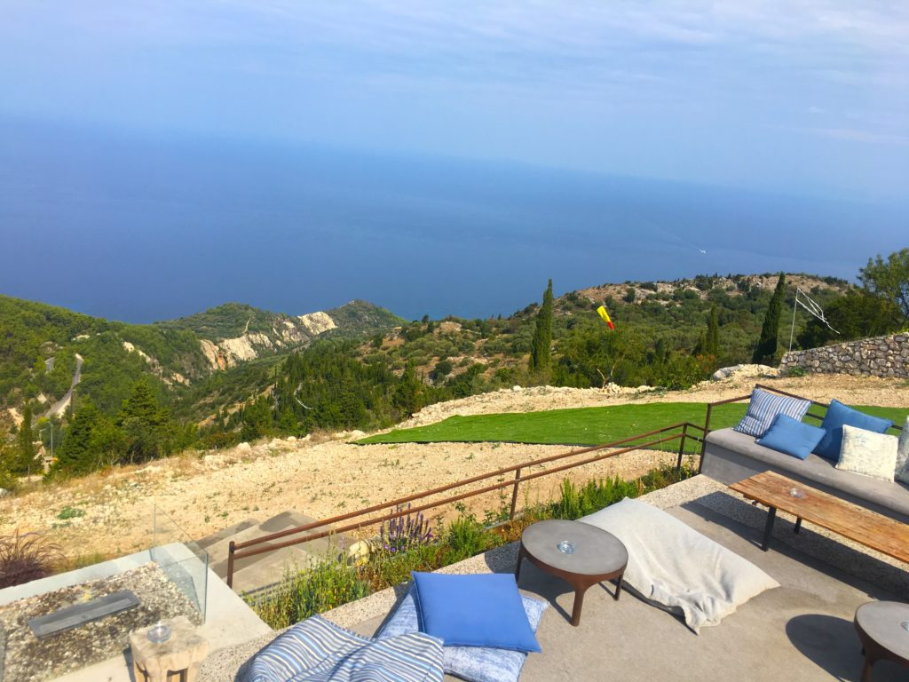 Rachi restaurant breakfast views on the island of Lefkada Greece