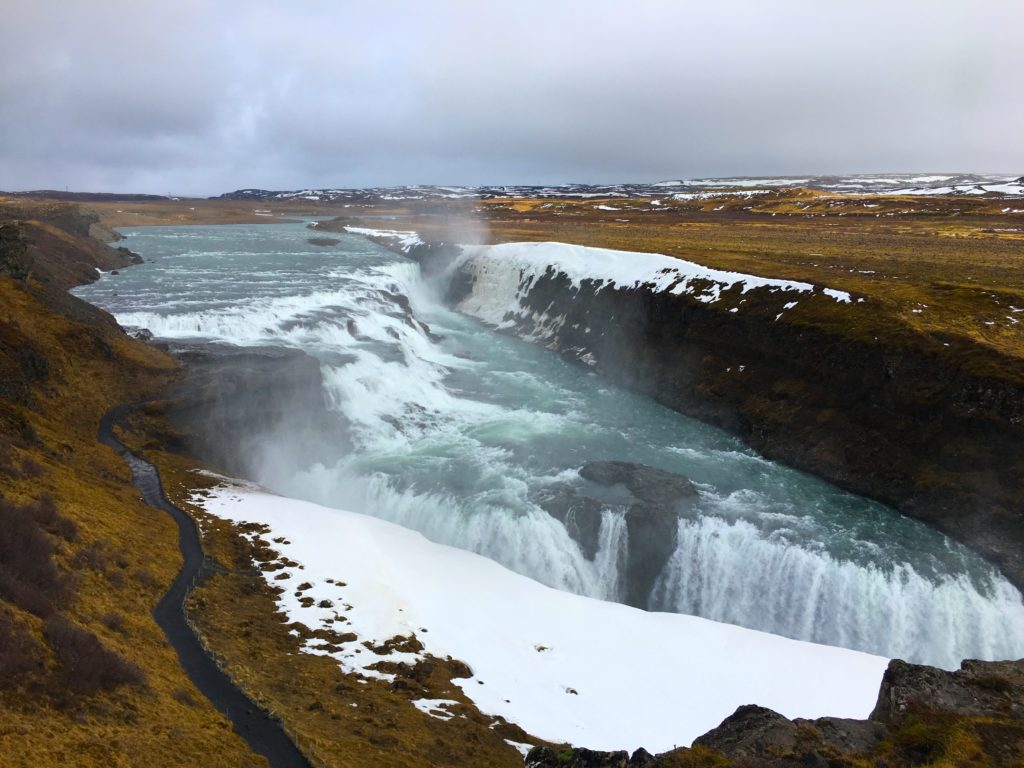 Gullfoss lookout point in Iceland