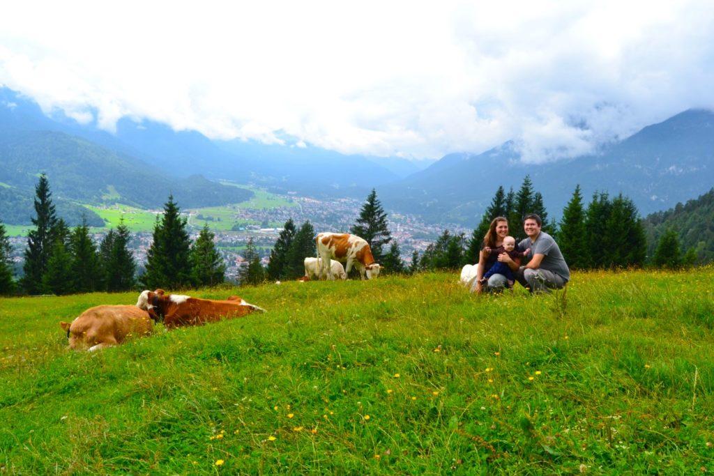 Hiking in Garmisch Germany with kids