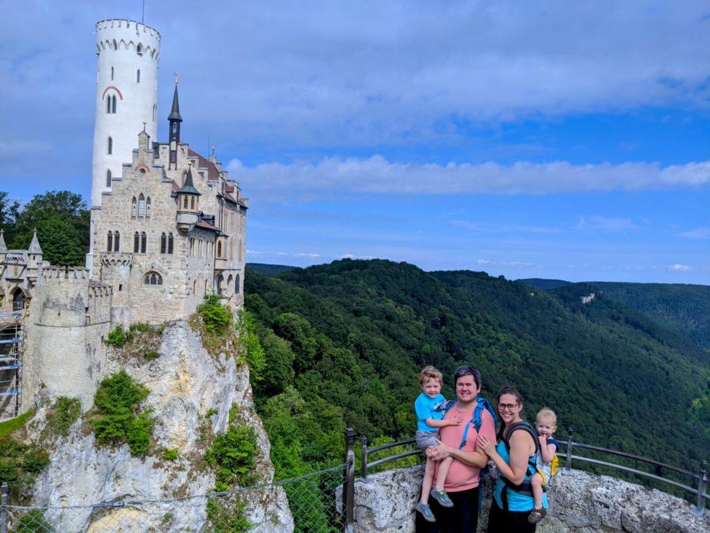 Hiking to Lichtenstein Castle Germany with kids