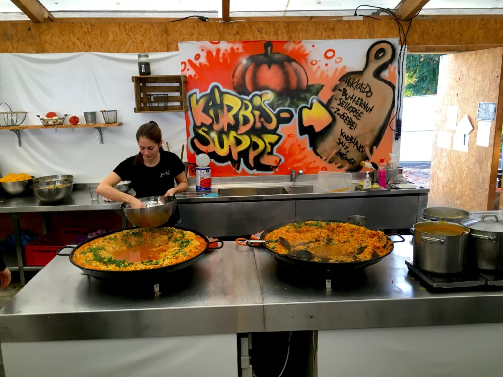 Pumpkin festival kitchen in Ludwigsburg Germany