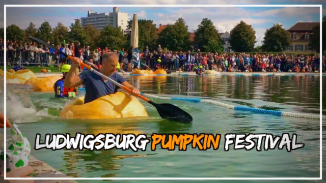 Pumpkin canoe race at the Ludwigsburg Pumpkin Festival