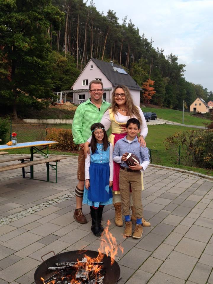 Rozanski family in their fest gear for Oktoberfest