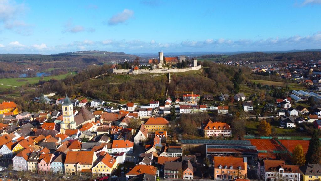 Aerial view of Burg Lengenfeld