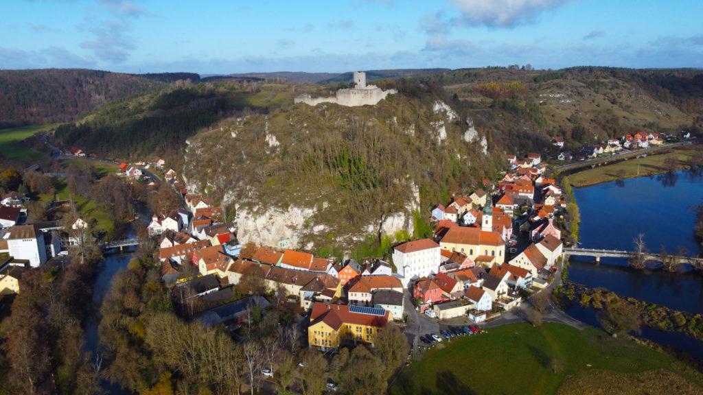 Aerial view of Burg Kallmünz
