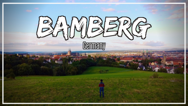 Aerial view of the city of Bamberg Germany