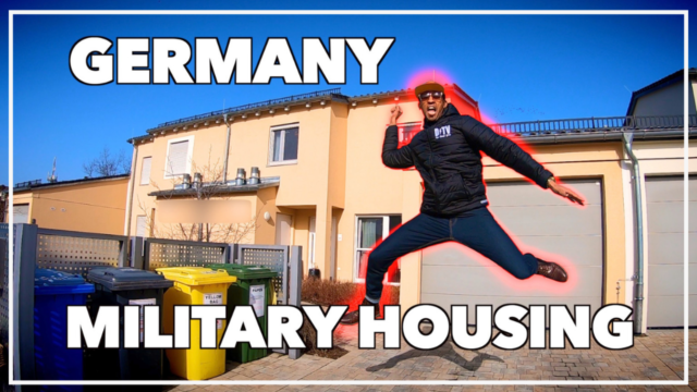 Jumping in front of grafenwoehr on post military housing
