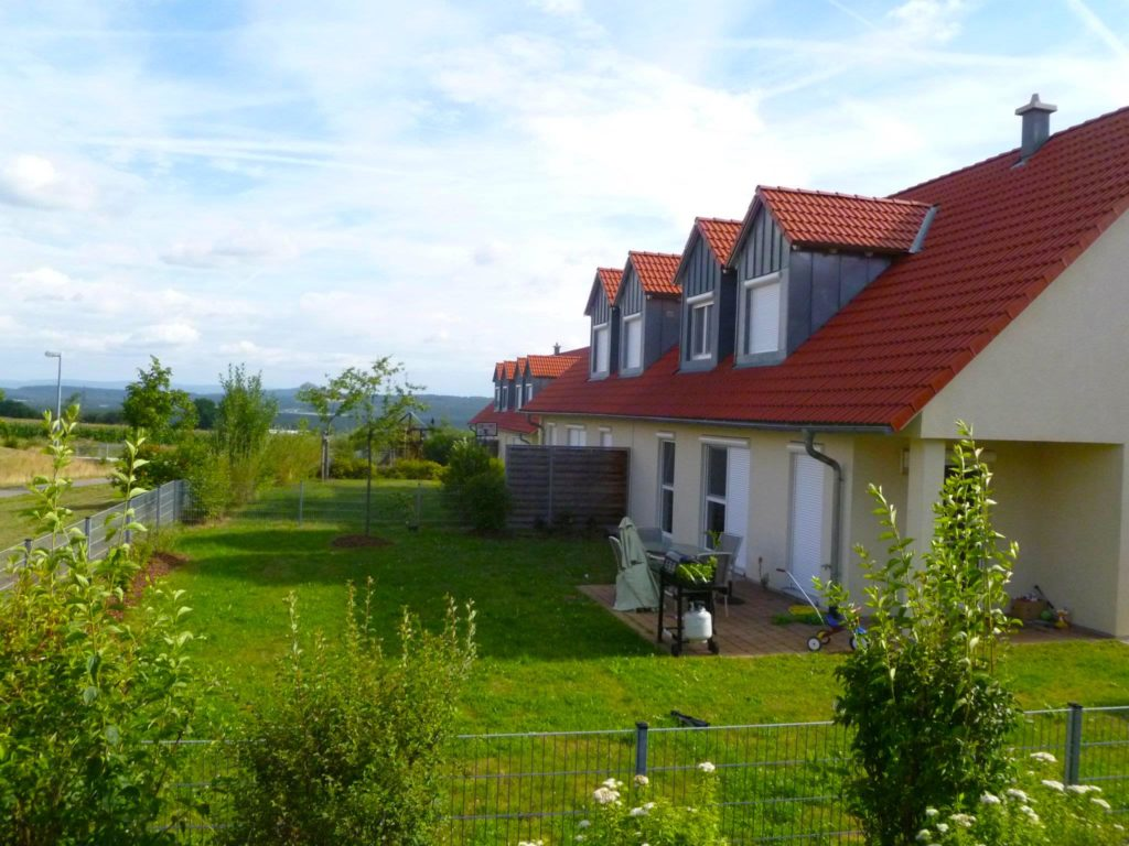 backyard of germany military housing on grafenwoehr