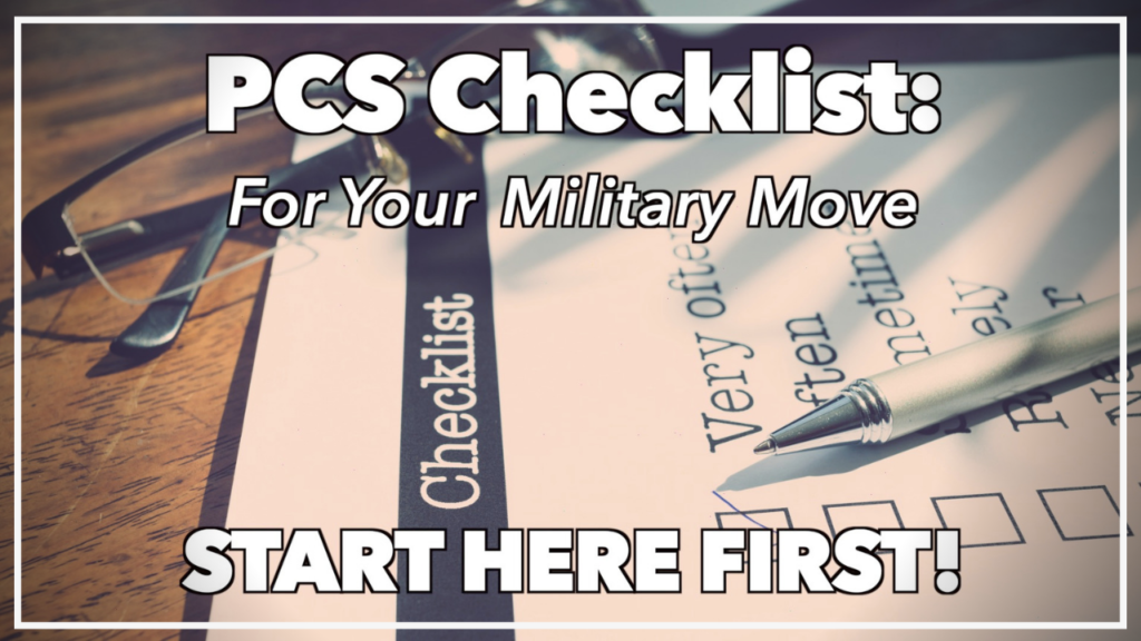 PCS Checklist for your military move with pen and paper