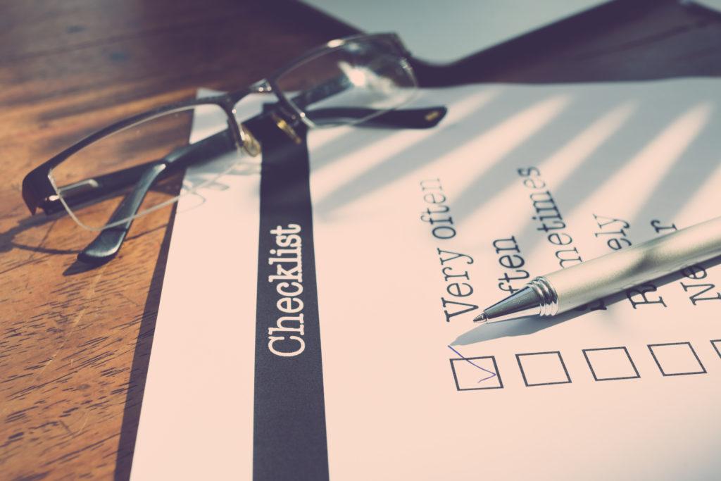PCS Checklist Photo