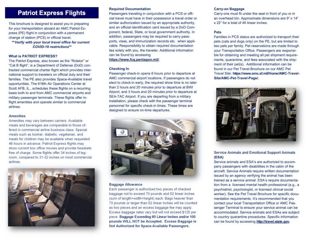 Patriot Express Brochure