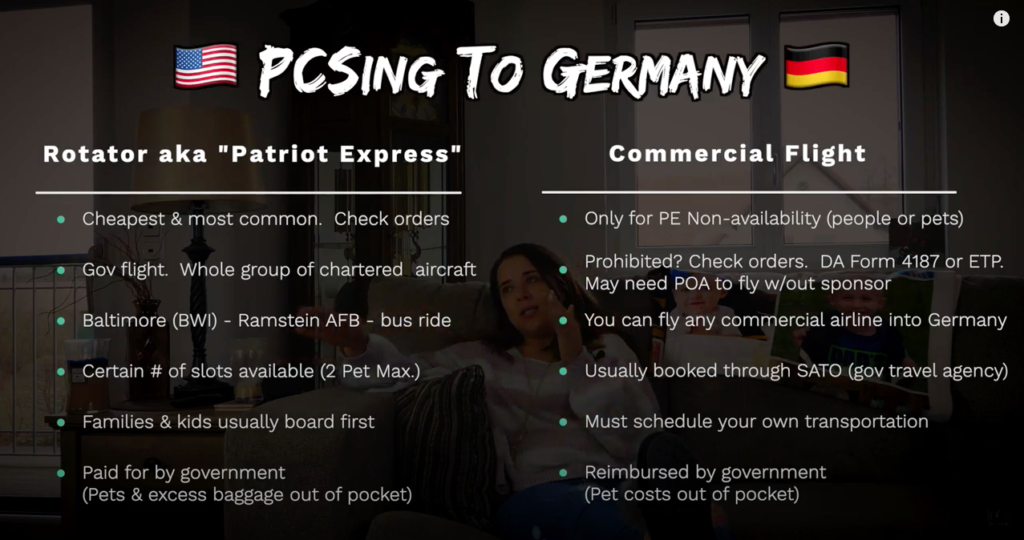 The biggest differences from Patriot Express and a Commercial Flight