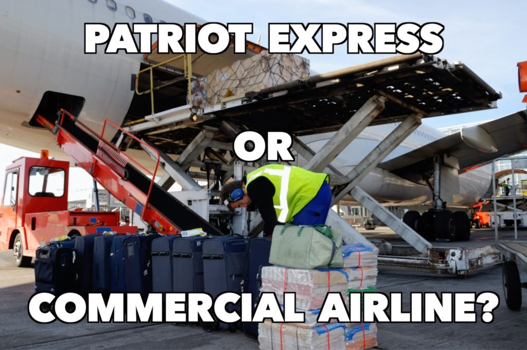 Patriot Express or Commercial Airline
