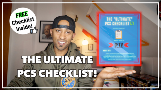 FREE PCS to Germany Checklist and the Ultimate PCS Checklist for your military move