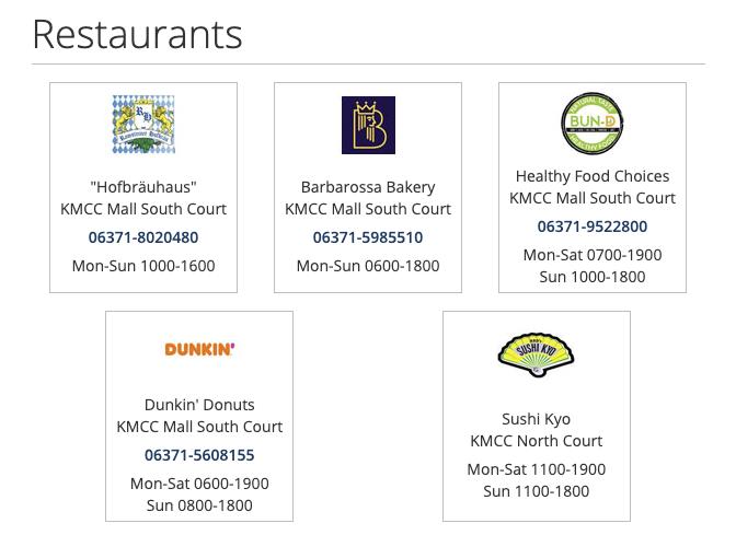 Restaurants at the Ramstein BX