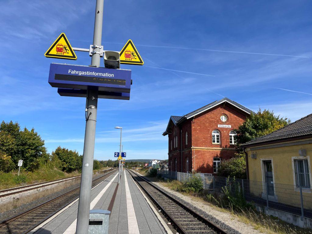 Train station outside of Vilseck army base